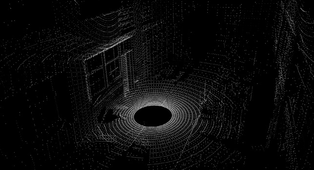 Example of a point cloud