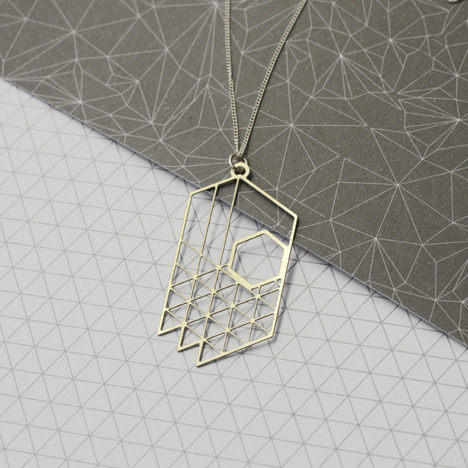 Plan Necklace by Dowse – Above: cards by HAM