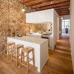 Sergi Pons uncovers stonework and ceiling vaults in renovated Barcelona apartment