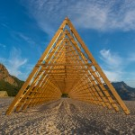 Rintala Eggertsson Architects' wooden structures will host concerts on a Norwegian beach