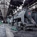MAV 424 steam train, Hungary
