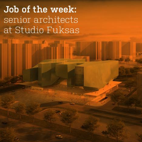 Job of the week: senior architects at Studio Fuksas
