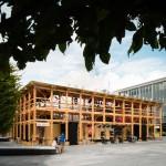 Assemble's latest pop-up theatre combines Tudor design with stadium architecture