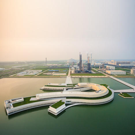 Alvaro Siza's first major project in China floats in an industrial park