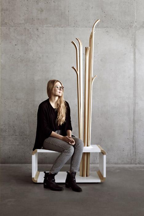 Tilia Coat Stand by Alicja Prussakowska