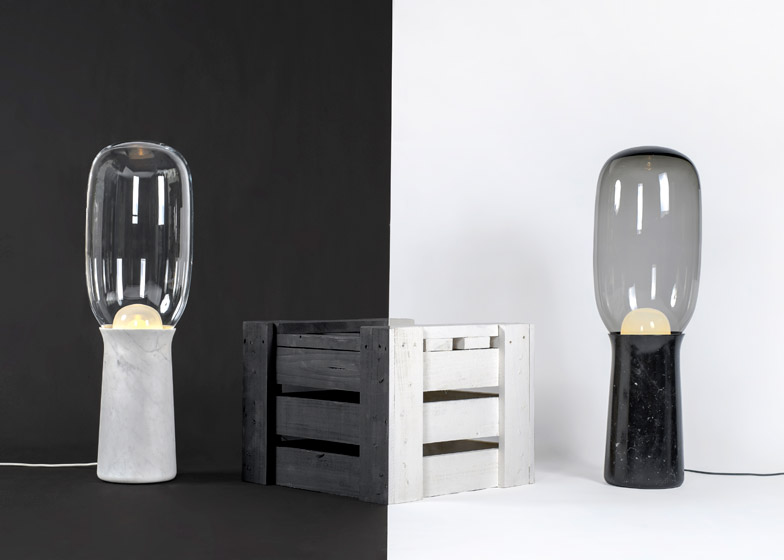 Dan yeffet creates torch floor light from marble and glass aloadofball Gallery