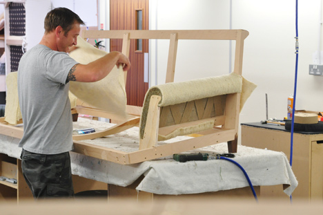 Coakley & Cox will give live upholstery demonstrations