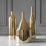 Via Fondazza brass vases by Paolo Dell'Elce are modelled on still life paintings