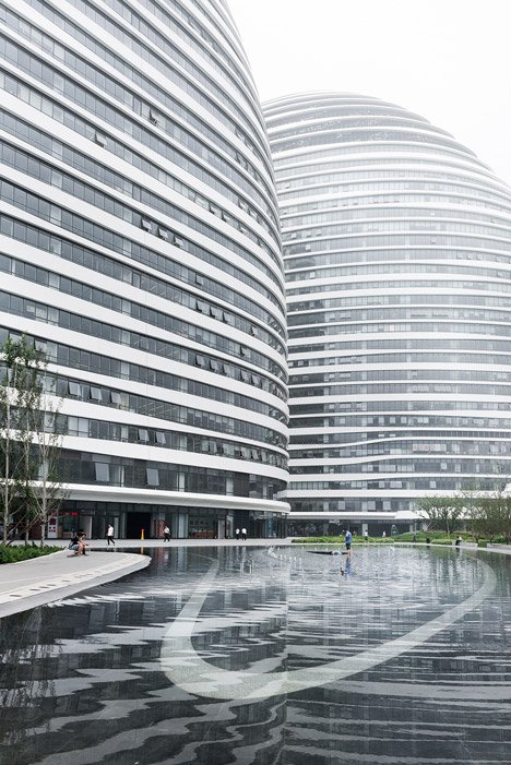 zaha hadid 39 s wangjing soho complex nears completion in beijing. Black Bedroom Furniture Sets. Home Design Ideas