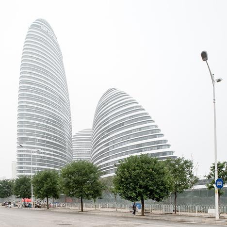 Zaha Hadid's Wangjing Soho complex nears completion in Beijing