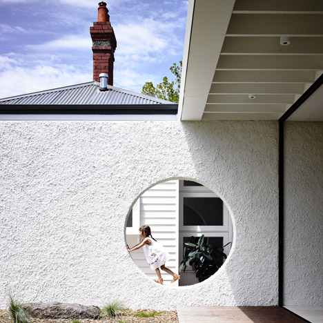 Punctured wall separates old from new at Westgarth House by Kennedy Nolan