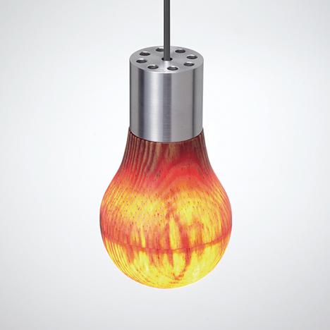 Wooden lightbulb by Ryosuke Fukusada