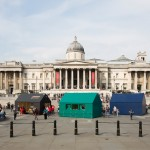 "Designers interpret ""home"" for Airbnb Trafalgar Square installation"