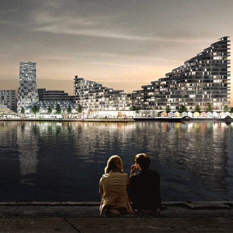 "BIG plans to ""breathe life"" into Aarhus harbour<br /> with swimming baths and beach huts"