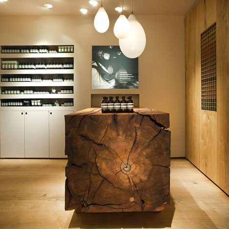 In Praise of Shadows uses dead wood from a Stockholm park in first Swedish Aesop store