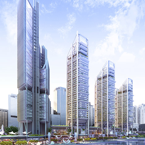 Rogers Stirk Harbour unveils waterfront skyscrapers for first Middle East job