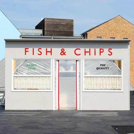 Rooftop fish and chip shop by Something & Son is (slowly) growing its own produce