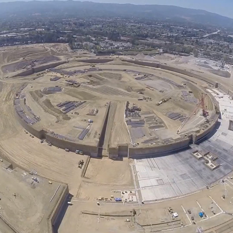 First images of Apple Campus under construction captured using