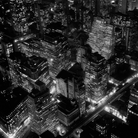 Berenice Abbott Night view New York City 1932