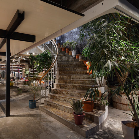 Suppose Design Office pairs industrial fittings with plants at Biotop lifestyle store
