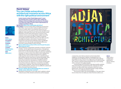 David Adjaye is one of 45 designers and architects featured in Dezeen Book of Interviews