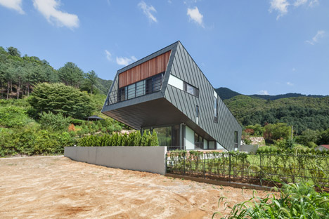El Salvador Leaning House by Praud