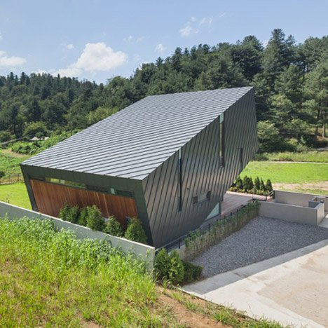 Praud's Leaning House is tilted upwards to maximise exposure to views and sunlight