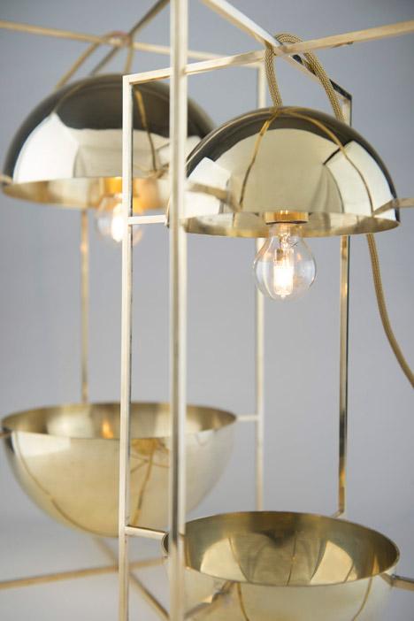 Exhibit light bowl by MEJD studio