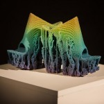 Francis Bitonti creates pixellated 3D-printed shoes using cellular automation