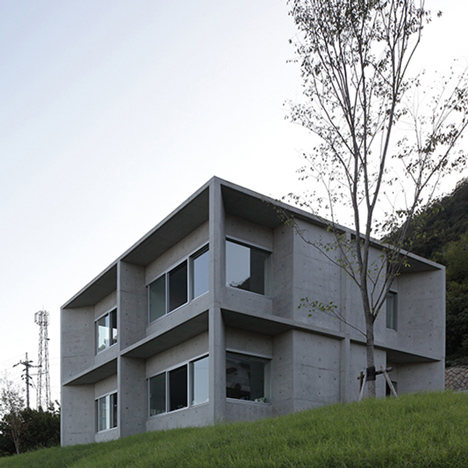 House in Tajiri by Kazunori Fujimoto is a raw concrete home facing out to sea