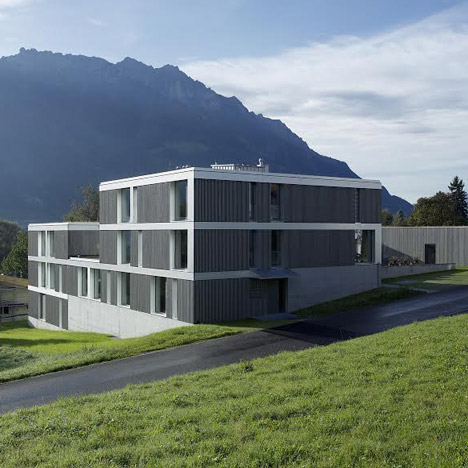 Housing Estate Papillon sits in the shadow of a mountain range