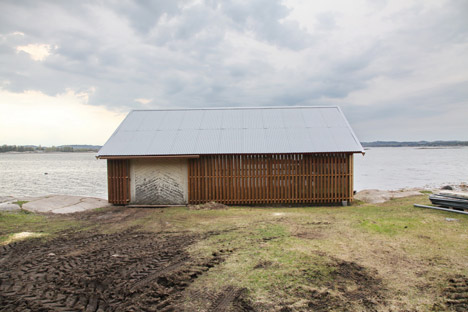 Hudøy boat house by Snohetta