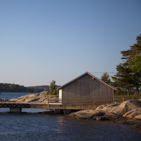Snøhetta's revamped Hudøy boathouse offers shelte