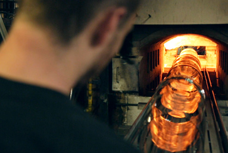 Glass blowing at LambertsGlas factory