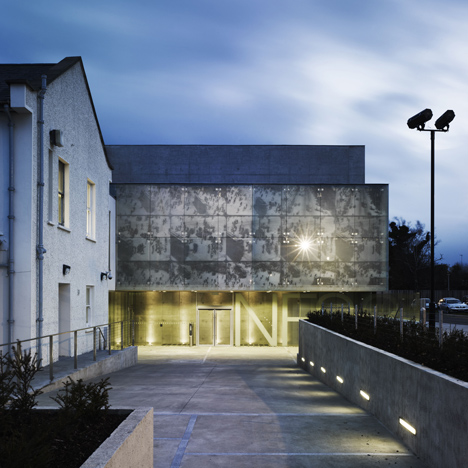 Historical Movie Images Adorn Facade Of Dublins National Film School