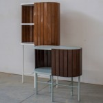Davide G Aquini's furniture collection is clad in boat decking