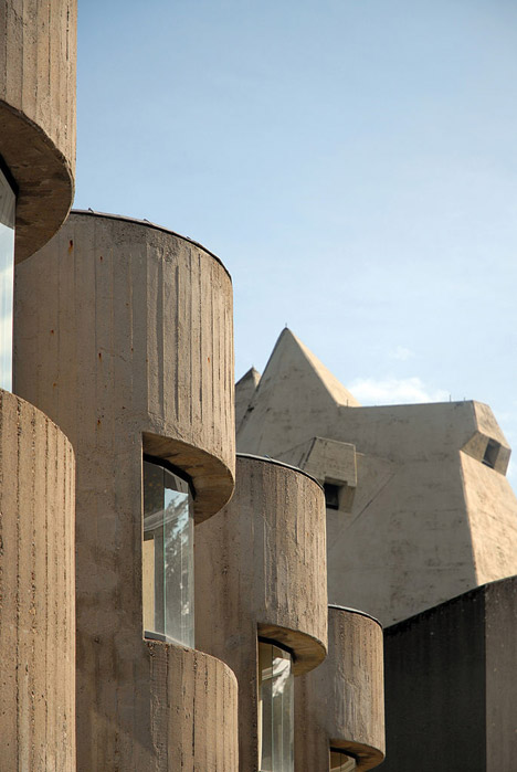 Brutalist buildings: Pilgrimage Church, Neviges by Gottfried Böhm