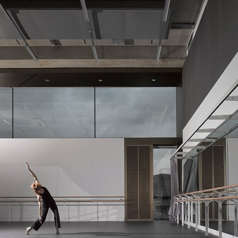 Allies and Morrison references Brutalism with concrete-clad studio for Rambert Dance Company