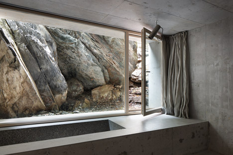 Concrete House Built From Remnants Of An Alpine Log Cabin