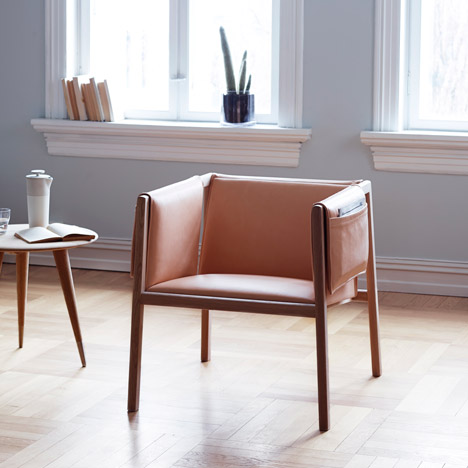 Angell, Wyller & Aarseth's Saddle Chair features pockets in each arm