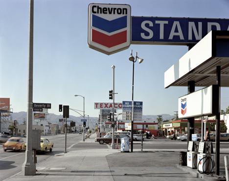 Beverly Boulevard and La Brea Avenue Los Angeles CA by Stephen Shore, 21 June 1974