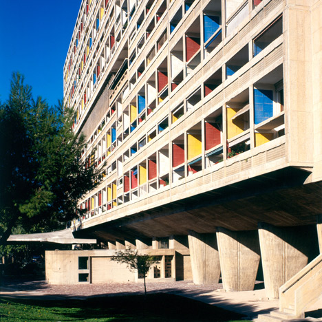 Brutalist buildings: Unité d'Habitation,<br /> Marseille by Le Corbusier