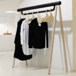 Torsten Neeland creates wooden framework for new Yohji Yamamoto collection