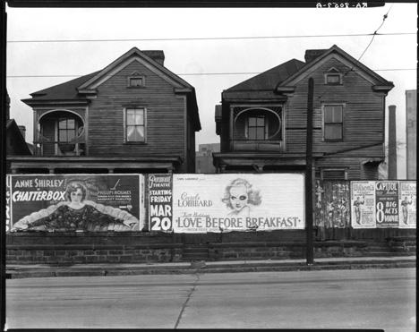 Frame Houses and a Billboard Atlanta Georgia by  Walker Evans,  1936