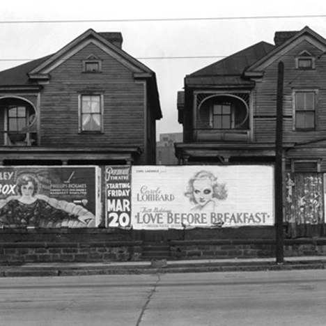 Walker Evans Frame Houses and a Billboard Atlanta Georgia 1936