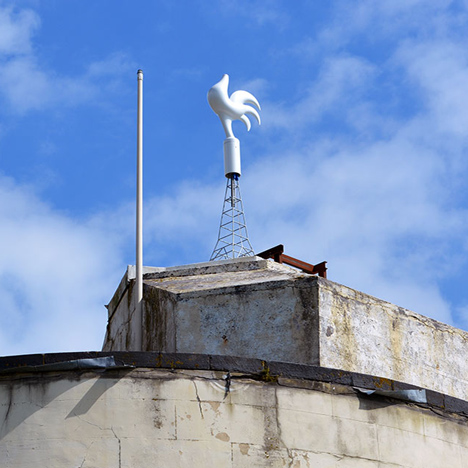 Headless rooftop chickens by Rootoftwo respond to internet panic levels