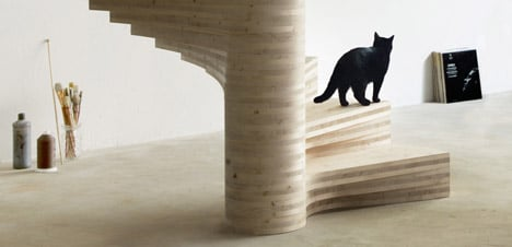 Wooden Spiral staircase by Risa Meyer
