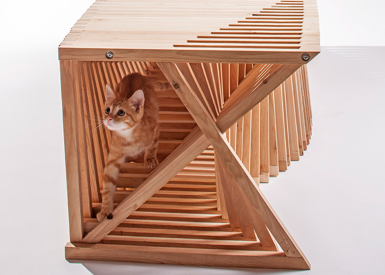 Architects for Animals cat house by Formation Association