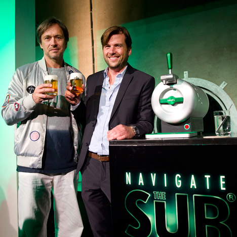 "Marc Newson designs ""revolutionary"" draft beer machine for Heineken"