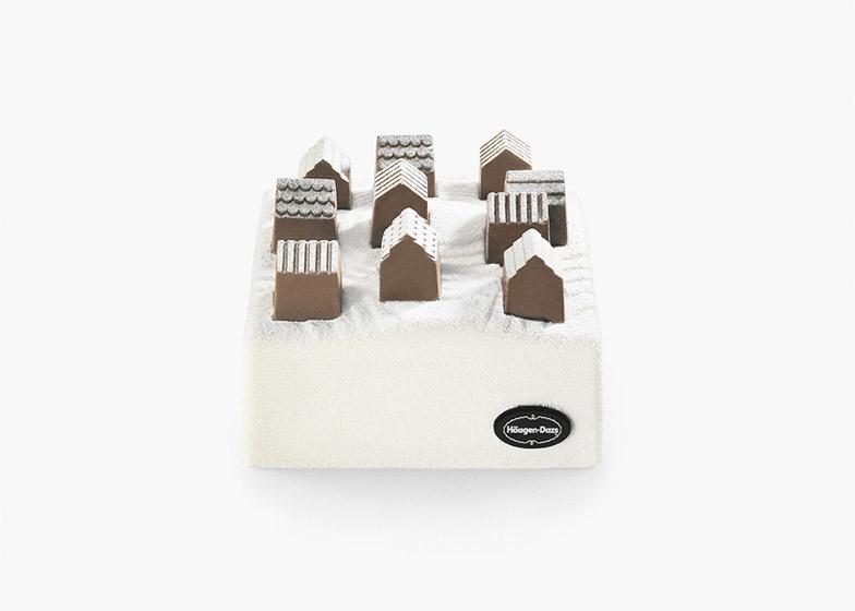 """Ice cream cake """"village"""" for Häagen-Dazs by Nendo"""